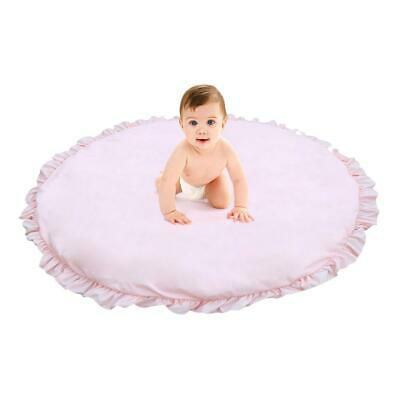 Round Baby Game Mat Lace Blanket Crawling Rug For Childrens Tent Bed Decoration