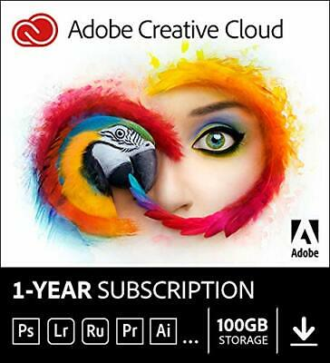 Adobe Creative Cloud All Apps | 1 Year | PC/Mac | Digital Download Code