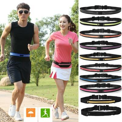Dual Pocket Running Belt Phone Waist Pouch Sport Bag Travel Fanny Pack