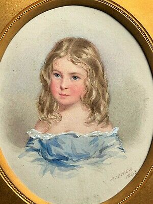 Exceptional 'William Fisher' R.a Listed (1817-1895) Miniature Portrait Painting