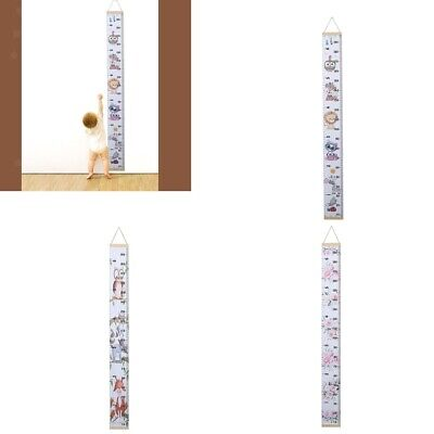 Baby Growth Chart Height Ruler for Kids, Wood Frame and Canvas Wall Decor