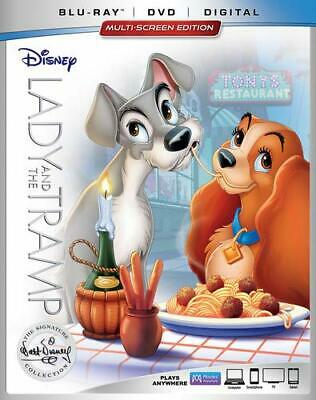 NEW Disney, Lady and the Tramp (Blu-ray/DVD/Digital, 2018, Signature Collection)