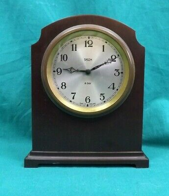 Vintage Smiths Lever 8 Day Wind-Up Bakelite Mantle Clock. Working.  (Hospiscare)
