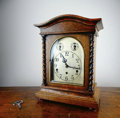 Antique Bracket Mantel Clock Westminster Chime Quarter Strike by Kienzle Germany