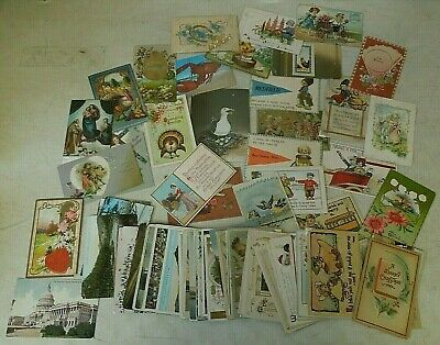 70+ Pc Mixed Lot of Antique, Vintage & Retro Post Cards ~ Posted & Un-Posted