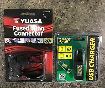Battery tender battery cord / USB charger combo - motorcycle, ATV- FREE US SHIP