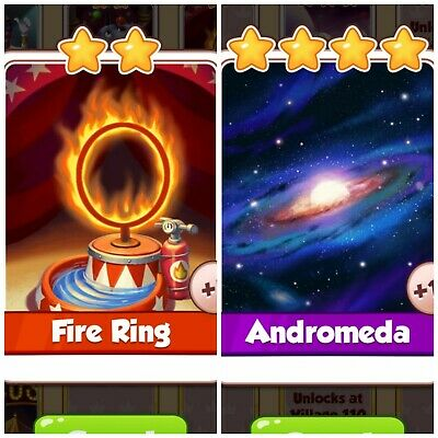 Coin Master Card**** Andromeda& Fire Ring**** Fast Delivery