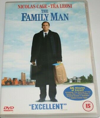 The Family Man (DVD, 2001) Cage, Leoni - Rated 15, Region 2, PAL.