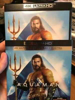 Aquaman 4k Disc with case and slipcover..Ships free/tracking