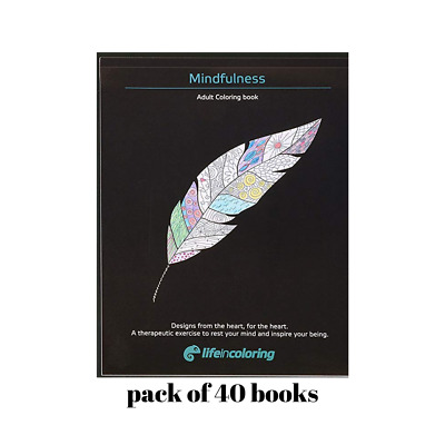 COLORING BOOKS BULK Pack of 40 coloring books Mindfulness ...