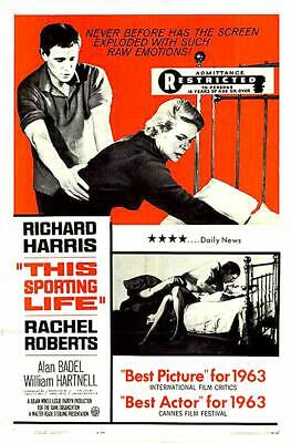 RARE 16mm Feature: THIS SPORTING LIFE (RICHARD HARRIS) LINDSAY ANDERSON--BRITISH