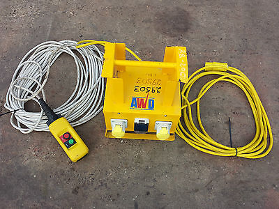 110v 2 Way Splitter Junction Box  with EMERGENCY STOP & Audible Warning Device