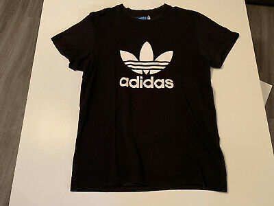 Adidas T-Shirt Herren Shirt Schwarz Trefoil Logo Shirts Originals 3 Stripes