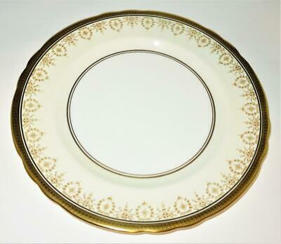 """Aynsley GOLD DOWERY 7892 Filigree Gold Encrusted Scalloped Dinner Plate, 10 1/2"""""""