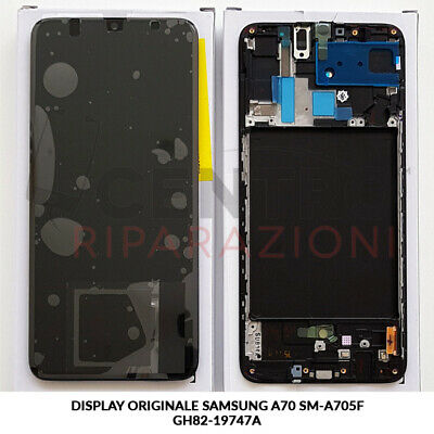 Display Lcd Touch Screen Originale Samsung Galaxy A70 Sm-A705F Nero Black