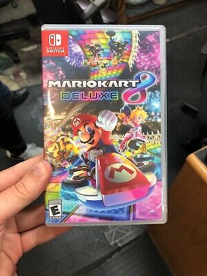 Mario Kart 8 Deluxe (Nintendo Switch, 2017) Excellent - Cartridge Only!
