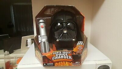 Darth Vader Voice Changer Helmet Costume Mask Star Wars Sith Lord 2004 New