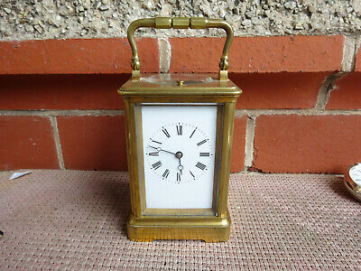 Brass Victorian Strike Repeat Carriage Clock By Gl