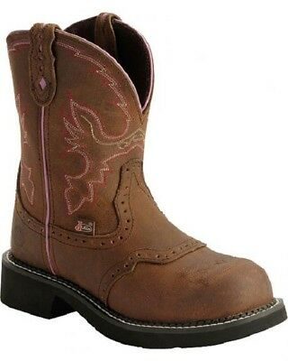 16973f09f0f JUSTIN GYPSY WOMEN'S Work Boot size 9B brown - $80.00 | PicClick