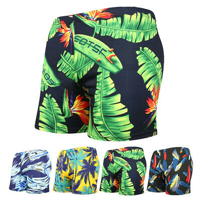 Men Swim Trunk Swimwear Quick Dry Beach Shorts Boxer Floral Print Short Swimsuit