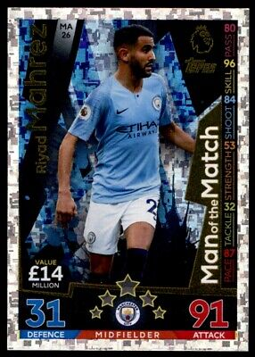 Match Attax 18/19 EXTRA - Manchester City Riyad Mahrez (Man of the Match) MA26