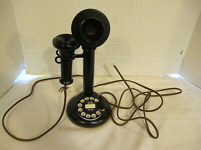 Vintage American Bell Telephone Co Black Rotary Candlestick Phone
