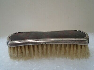 antique 1929 Collett & Anderson silver & faux tortoiseshell brush  NICE THING