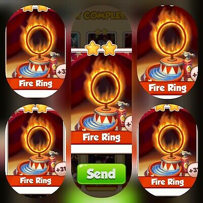Coin Master Super Pack of 5x Fire Ring card's (Fastest Delivery)
