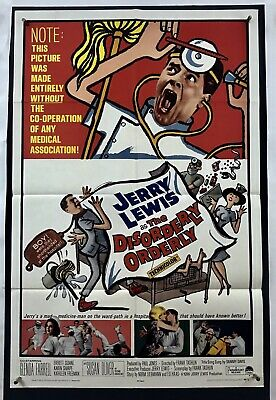 DISORDERLY ORDERLY Movie Poster (Fine) One Sheet 1965 Jerry Lewis 4051