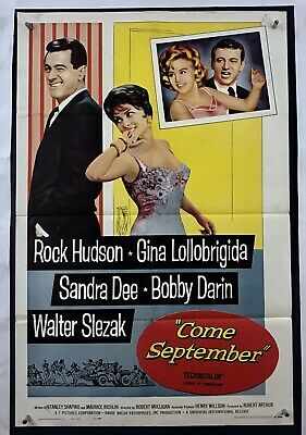 COME SEPTEMBER Movie Poster (VeryGood+) One Sheet 1961 Rock Hudson 4052