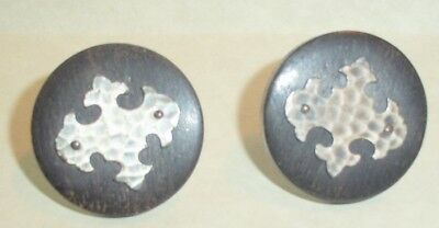 Swank Arts and Crafts Hammered Design Vintage Cufflinks