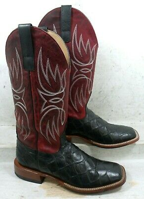 71da56d59ad HORSE POWER MENS Filet Fish Red Apple Blackened Western Cowboy Boots Shoes  8.5 M