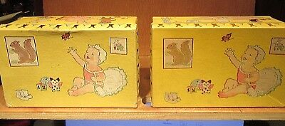TWO Vintage 1931 Monarch Co Baby Shoes  Boxes  Chicago ILL.