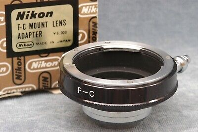 Genuine Nikon F-C C-Mount Lens Adapter In Box, Made In Japan - Free Usa Shipping