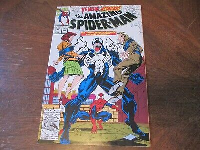 AMAZING SPIDER-MAN #374 Feb 1993 HIGH GRADE NM HOT VENOM KEY! UNREAD PAGES TIGHT