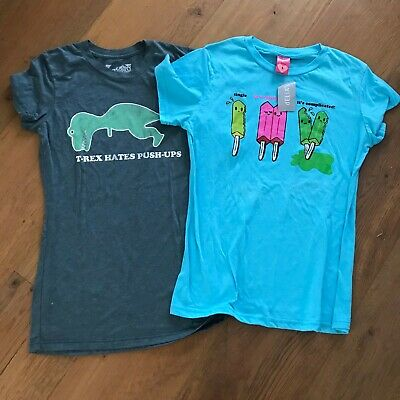 NWT Lot of 2 Delias graphic tee top shirt size Large