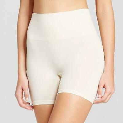 JKY by Jockey Women's Sandy Beige Muffin Tamer Slimming Shorts, Size Small