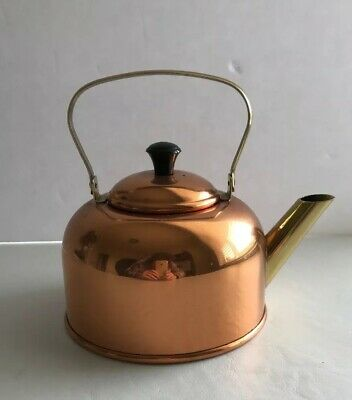 Vintage Coppercraft Guild Copper Brass Tea Kettle Made in USA Taunton Mass