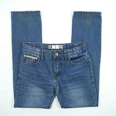 MOOKS - Blue Faded Distressed Straight Blue Denim Jeans Boy's Size 8 Adjustable