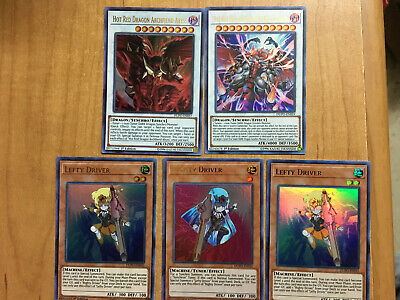 Hot Red Dragon Archfiend Abyss, King Calamity, Lefty, Righty Driver DUPO NM Lot