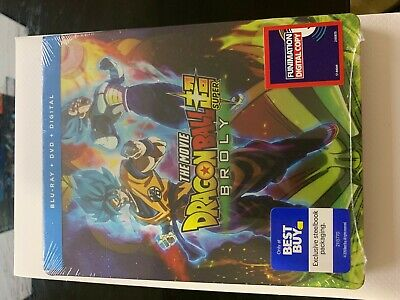 Dragon Ball Super Broly Steelbook (BLURAY+DVD+DIGITAL) SEALED