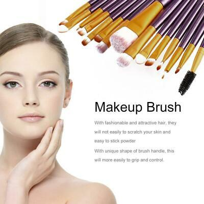 15Pcs Pro Makeup Brushes Set Cosmetic Make Up Brush Beauty Tool Synthetic DN