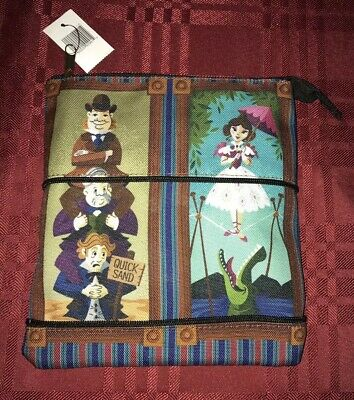 Disney Parks Haunted Mansion Stretching Room Coin Wristlet Purse Bag Pouch NEW