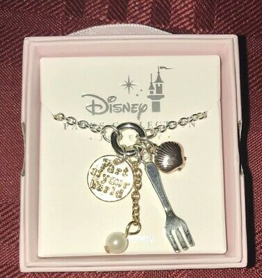 Disney Park The Little Mermaid Ariel Trinkets Necklace New Dinglehopper Seashell
