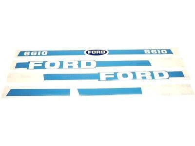 Bonnet Decal Set Fits Ford 6610 Tractors With Cab.