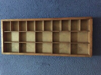 Wooden printer's  tray. Used