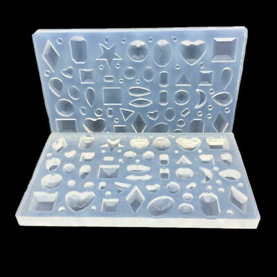 Silicone Mold Polymer Clay Resin Casting Craft Geometric Pendants DIY Moulds