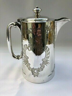 Antique Large Silver-Plated Coffee Pot