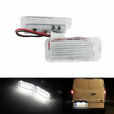 LED License Number Plate Light Lamps Ford Tourneo Transit Connect Courier Custom