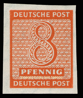 EBS Germany 1945 Soviet Zone - West Saxony - Numerals 8 Pf imperf 118Y MH*